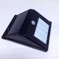 Luminária Externa Solar 16 Leds Sensor De Presença E Movimento fig 1