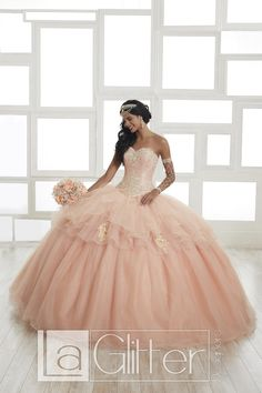 5889d7a4b1d House of Wu 24027 Strapless Sweetheart Quinceanera Gown