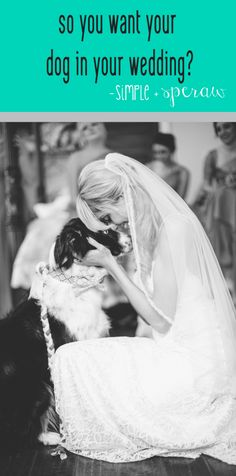 this bride gives tips about having your fur-baby in your wedding.  a must read for brides with pups!    pin now...read later!