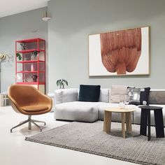 relax in this beautiful about a lounge in cognac silk leather and Mags soft sofa. via haynorge