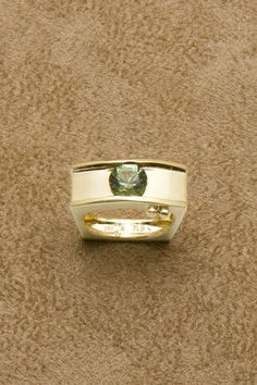 18K Yellow Gold Ring with Tourmaline $2,175 Rippel and Company #rings