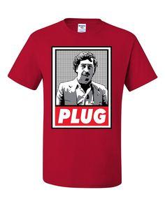 ac997547 Pablo Escobar Plug Cocaine Cowboys Narcos Tee Graphic Unisex T-shirt - Red  - CB12MXWYS40