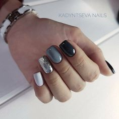 32 Black Square Nails Design You Should Know in 2019 Summer Trend - Top Nails Art Manicure Nail Designs, Nail Manicure, Nails Design, Gel Nail, Nail Polish, Love Nails, My Nails, Nagellack Design, Gelish Nails