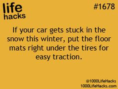 Or keep a set of rubber ones in your trunk next to your spare tire