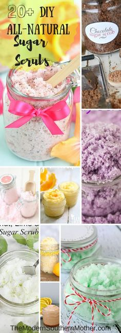 20+ All Natural Sugar Scrubs