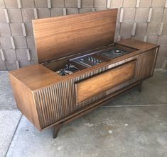 Vintage Stereo Cabinet, Record Cabinet, Vintage Record Player Cabinet, Record Player Console, Record Players, Radios, Vinyl Record Collection, Vinyl Storage, My Ideal Home