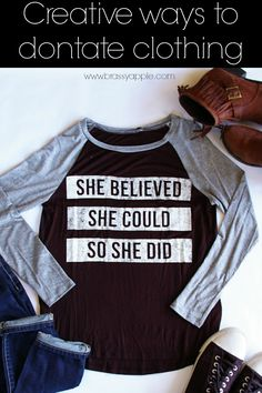 creative ways to donate clothing - BrassyApple.com