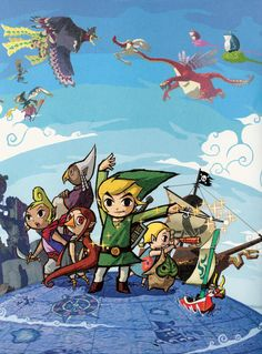 Legend of Zelda The Wind Waker 18 x 24 Video Game by kitschaus, $25.00