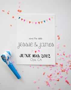 save the date from spencer studio - love the hand watercoloring!