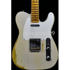 Custom Shop 1952 Heavy Relic Guitar Aged Guitar Vintage Guitar White Blonde Best Free Shipping Electric Guitar on TradeTang.com