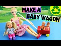 How to Make a Baby Doll Wagon / FOR LPS too - Easy Doll Crafts - YouTube