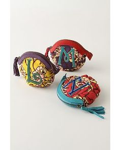 anthropologie assorted letter o' mine coin purse