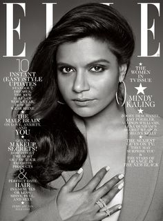 Mindy Kaling on Elle's February 2014 cover. Love Her