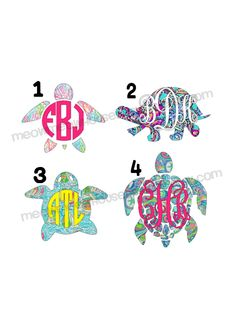 Monogrammed Lilly Print Turtle Decal - Many Print Choices - Personalized Nautical Decal for Car Laptop Tablet Notebook Phone Case by MeowMeowHouseDesigns on Etsy (null) Phone Decals, Car Decals, Cricut Expression 2, Vinyl Decor, Cricut Explore, First Love, Phone Cases, Monograms, Cricut Ideas