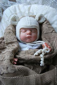 """Купить Шапочка шерстяная """"Мышонок"""" - шапочка, вязаная шапочка, для новорожденного, шапочка с ушками, на выписку, Крестины"""