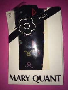 MARY QUANT TIGHTS ORIGINAL MATHEMATICAL FANCY ,S VINTAGE BLACK in Clothes, Shoes & Accessories, Women's Clothing, Hosiery & Socks   eBay