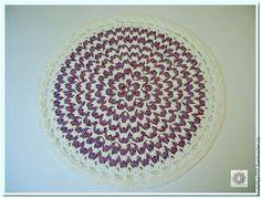 Текстиль, ковры ручной работы. Ярмарка Мастеров - ручная работа. Купить Коврик вязаный из шнура круглый Италия-3. Handmade.