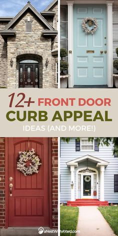 The front door of your house is no doubts the focal point of your house. It's like its calling card. Keeping it nicely-looking and tastefully decorated will definitely have an impact on the first impression buyers will have of your house. #curbAppealProjects #curbAppeal #houseExterior #homeExteriorIdeas #frontDoor #frontDoorDecor
