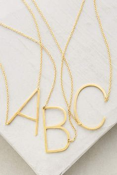 Monogram Pendant Necklace - anthropologie.com