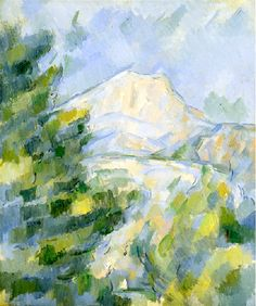 Mont Sainte-Victoire - Paul Cezanne. I really want to copy this in oil pastels. I love the style