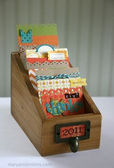 Have everyone write what they are Thankful for on Thanksgiving day!  Thankful Box by @maryannjenkins - maryannjenkins.com