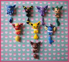 Chibi-Charms: Pokemon Eeveelutions by ~MandyPandaa on deviantART