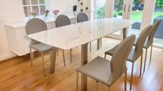 Image result for gloss extending dining table
