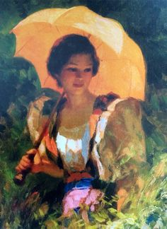 Fernando Amorsolo - The Yellow Parasol