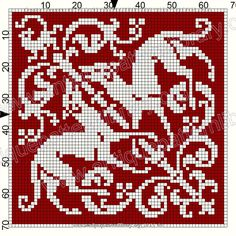 ru / Фото - Le Filet Ancien I - gabbach Celtic Cross Stitch, Cross Stitch Tree, Cross Stitch Kits, Cross Stitch Designs, Filet Crochet Charts, Knitting Charts, Hand Work Embroidery, Embroidery Books, Tile Patterns