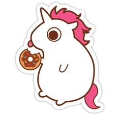 Treats the unicorn loves sweets more than I do, and that's saying something! • Also buy this artwork on stickers, apparel, phone cases, and more.