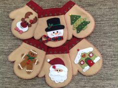 Red Christmas Ornaments, Quilted Ornaments, Felt Ornaments, Felt Christmas, Handmade Christmas, Christmas Crafts, Christmas Decorations, Recycled Cd Crafts, Christmas Embroidery Patterns