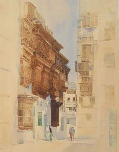 Spencer W Tart Limited Edition Watercolour Print Middle East art