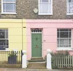 Pretty mix of pastels with brass Banham locks and an old style bell box. Credit@Londonispink //.instagram.com/p/BEfyzKdDC0h/?taken-by\u003d ... : banham door furniture - pezcame.com