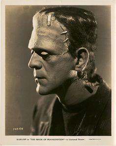 Portrait of Boris Karloff from The Bride of Frankenstein.