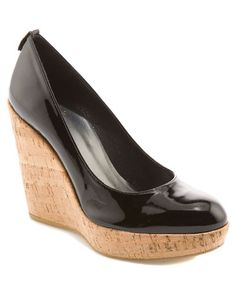 'Corksway' Patent Leather Wedge Pump