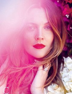 drew barrymore:  hair color