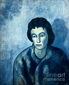 PICASSO: WOMAN, 1902. Pablo Picasso: Woman with bangs. Oil on canvas, 1902.