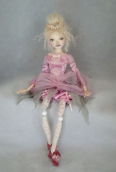 Jointed OOAK doll -The princess in pink by Marina