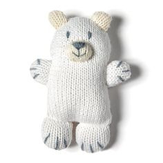 DIY ours polaire pour les enfants qui n'ont pas peur du froid DIY polar bear for children who aren't afraid of the cold Loom Knitting, Baby Knitting, Knitting Patterns, Sock Animals, Knitted Animals, Knitted Dolls, Crochet Toys, Marie Claire, Polar Bear