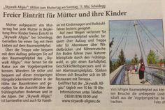 Skywalk Allgäu - kostenlos für Mütter mit Kindern am Muttertag