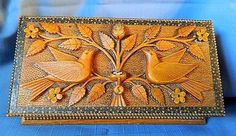 1874 Folk Art Box Carved By a Prisoner in State Penitentiary