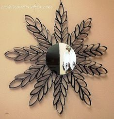 I've been at it again… one of my favorite craft mediums is to use empty toilet paper rolls to creat unique crafts! It is actually really simple to do…check it out…this is one of my favorites yet! Toilet Paper Roll Art, Paper Wall Art, Toilet Paper Roll Crafts, Cardboard Crafts, Paper Towel Roll Crafts, Paper Towel Rolls, Craft Images, Do It Yourself Crafts, Paper Flowers