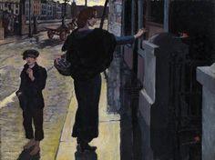 bachelors walk, jack b yeats Jack B, Edward Hopper, Logo Design, Graphic Design, Irish Art, National Gallery Of Art, Norman Rockwell, Dublin, Art Pieces