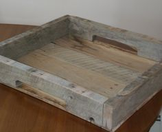 Love reclaimed wood this is such a cool serving tray!  Serving Tray. $30.00, via Etsy.