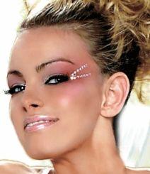 Clear Small Self-Adhesive Face Gems Cheerleading Makeup, Cheer Makeup, Hair Cuffs, Princess Adventure, Carnival Makeup, Face Gems, Dramatic Makeup, Wedding Tattoos, Color Guard