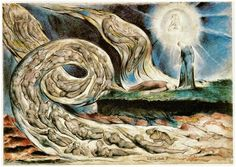 Il vortice degli amanti. Francesca da Rimini e Paolo Malatesta; William Blake; penna e acquarello; 1825; Museum and Art Gallery, Birmingham, Gran Bretagna.