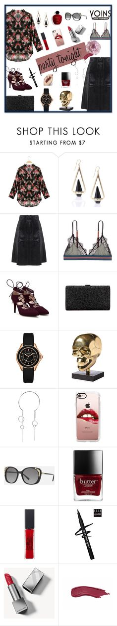 """""""party tonight"""" by pengminjie ❤ liked on Polyvore featuring LoveStories, Michele, Jonathan Adler, Ryan Storer, Casetify, Coach, Satine, Maybelline, Burberry and Cynthia Rowley"""