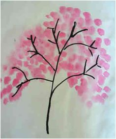Musings from Kim K.: Blossom Painting (super easy craft for CNY)