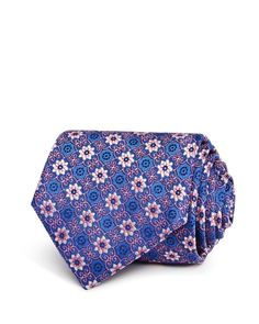 Canali Floral Medallion Classic Tie Classic, Floral, Ties, Accessories, Derby, Tie Dye Outfits, Neck Ties, Flowers