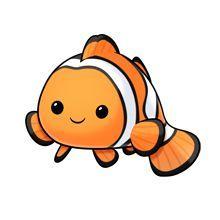 clown fish - I just had to pin him, he's too cute to pass up :D - imagini cu animalute* Cute Cartoon Drawings, Fish Drawings, Cute Cartoon Animals, Cute Animal Drawings, Kawaii Drawings, Baby Animals, Cute Animals, Clown Fish Cartoon, Sea Animals Drawings
